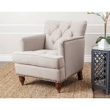 linen club chair abbyson tafton beige linen club chair free shipping today
