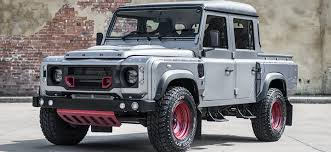 range rover defender pickup spectacular this land rover defender pick up is the work of kahn