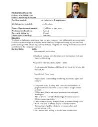 Sample Resume Format For Civil Engineer Fresher by Mechanical Draftsman Resume Format Resume Format