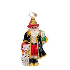 radko ornaments santa to the resue fireman ornament
