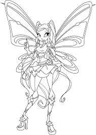 excellent winx club bloom coloring pages winx coloring pages