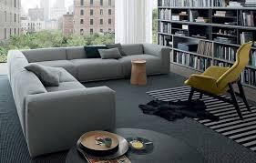 elegant gray sofa corner sofa ideas gray carpet bookshelves living