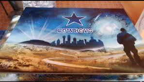 dallas cowboys spray paint art youtube