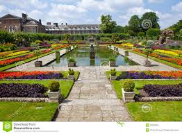the sunken garden and kensington palace royalty free stock
