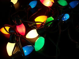 vintage string of 20 multi color lights large bulbs 15