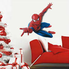 spiderman wall stickers art kids huge spiderman wall sticker