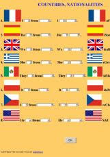 english exercises the countries