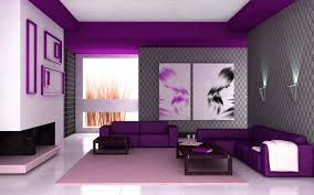 contemporary purple living room concept with purple sofa color