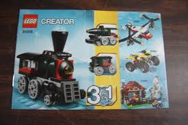 lego creator 3115 emerald express instruction manual booklet only