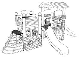 playground coloring pages wecoloringpage