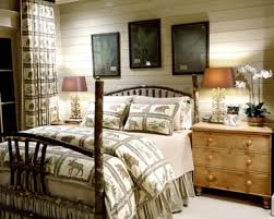 modern rustic bedroom ideas white floral pattern window animal