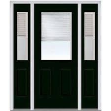 exterior door with blinds between glass blinds between the glass fiberglass doors front doors the