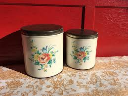 vintage style kitchen canisters vintage decoware kitchen canisters storage tins barn shop antiques