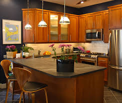 wood stained kitchen cabinets shaker kitchen cabinets the downtown shaker