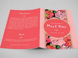 bi fold wedding program template hibiscus bi fold funeral program template by godserv2 graphicriver