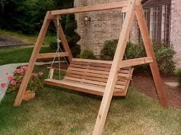 porch swing a frame plans bench garden swing bench wood garden