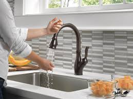 100 standard kitchen faucet delta leland single handle pull