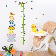 amazon com height measurement growth chart tree cute monkey and amazon com height measurement growth chart tree cute monkey and owls wall vinly decal decor sticker removable super for nursery playroom girls and boys