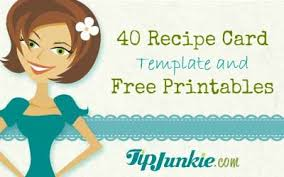 recipe card templates for word template examples