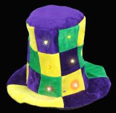 mardi gras hat lightup mardi gras stovepipe hat