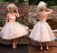 tea length wedding dresses uk discount chagne wedding dresses uk strapless floral
