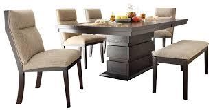 dining room sets for 6 homelegance tanager 6 dining room set in espresso