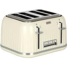 Breville 4 Slice Smart Toaster Breville Impressions Vtt702 4 Slice Toaster Cream
