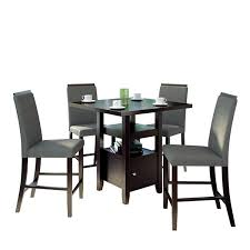 36 counter height table bistro 5 pc 36 counter height cappuccino dining set jcpenney