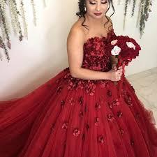 burgundy quince dresses burgundy flowers wedding dresses gowns 2018 engagement dress