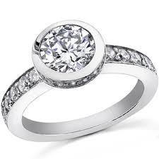 bezel engagement ring bezel moissanite engagement ring moissaniteco