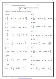 converting fractions to decimals worksheet convert between