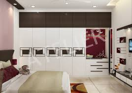 wardrobe design of master bedroom at a residence at surya nagar