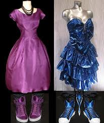 prom dresses from the 80s vintage 1980s dress party prom 1990s zum new wave metallic keyhole