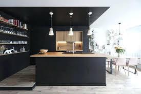 cuisine en noir cuisine noir et bois cuisine noir mat et bois clair