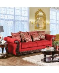 traditional sofas with wood trim new savings on furniture of america ferga traditional wood trim ruby