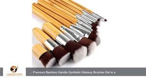 de u0027lanci 11 pcs bamboo synthetic makeup brush set face powder
