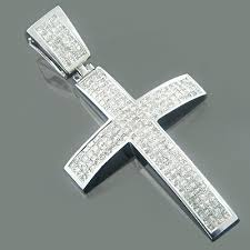 mens cross crucifix necklace images Gold princess diamond mens cross necklace 5 95ct jpg