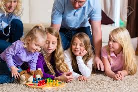 family board ludo at home on the floor stock photo