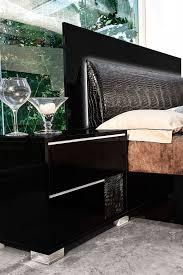Contemporary Bedroom Sets Made In Italy Modrest Grace Italian Modern Black Bedroom Set Grace Black