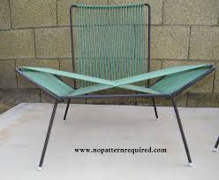 Turquoise Patio Chairs 1950s Patio Furniture No Pattern Required