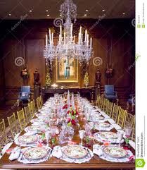 dining room table setting for christmas elegant christmas table setting stock image image of crystal
