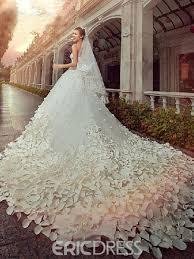 beading wedding dresses gorgeous a line floor length cathedral flower beading wedding