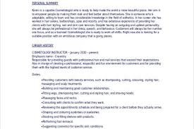 cosmetology resume objectives sample cosmetologist resume 5
