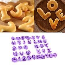 ustensile de cuisine en m en 6 lettres lot de 36 moules à gâteau lettres chiffres alphabet moule à biscuit
