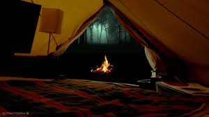 virtual camping with campfire crickets owls and other relaxing