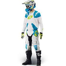 white motocross gear 2014 one industries gamma motocross kit combo white cyan 2014