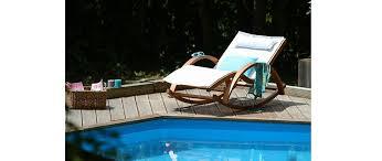 chaise cass e chaise longue bain de soleil blanc cassé guerande miliboo