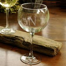 wine glass with initials free engraving monogrammed wine glass personalized giftsengraved