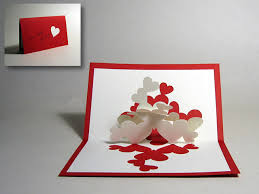 kirigami pile of hearts pop up card happy folding