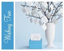 wishing tree cards feather nest baby shower